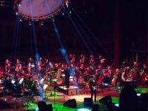 Devotchka playing with the Colorado Symphony Orchestra at Red Rocks